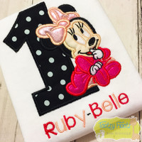 Minnie Mouse Inspired Birthday (Black, Hot Pink, Baby Pink)
