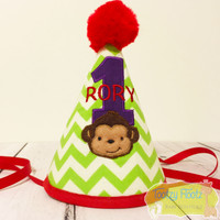 Monkey Themed Birthday Party Hat