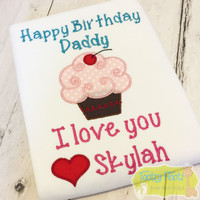 Happy Birthday Daddy with Cupcake (Love *Name)
