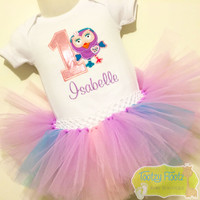 Giggle & Hoot Inspired - Hootabelle Birthday Tutu Set