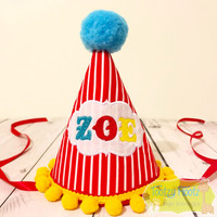 Circus Tent Themed Party Hat