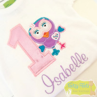 Giggle & Hoot Inspired - Hootabelle Birthday (Baby Pink Sparkle Number)