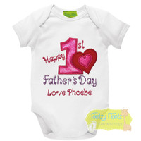 First Fathers Day - Double Heart Design