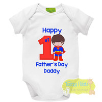 First Fathers Day - Superman (Standing) Design