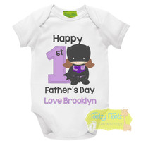 First Fathers Day - Batgirl Design (Purple)