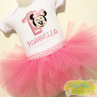 Minnie Mouse (Face) Inspired Birthday Set (Baby Pink)