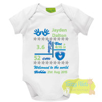 Birth Announcement Onesie (Baby Feet Design)