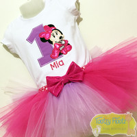 Minnie Mouse (Hot Pink & Purple) Inspired Birthday Set