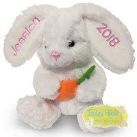 Personalised Easter Bunny Plush - White