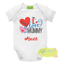 Mother's Day - I love mummy (Hearts)