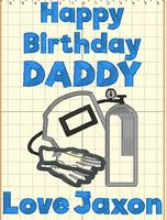 Happy Birthday Daddy (Welding Mask)