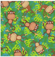 Reserved for Rowena Paul Cake Smash 3 Piece Set - Monkey Fabric