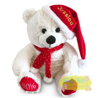 Personalised Christmas Teddy - White