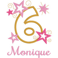 Pink & Gold Birthday Number with Stars Tutu Set