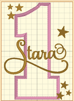 Pink & Gold Star Themed Birthday - With baby pink flutters