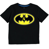 Batman Logo Inspired Birthday (Black Tee)