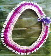 Micronesian Ginger with Purple Orchid Lei