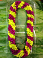 Green & Purple Spiral Orchid Lei