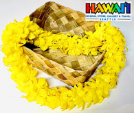 Double Orchid Lei, Yellow