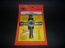 4 Way Socket Wrench - Plug Spanner - (DU-701)
