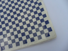 "Decals - Checkerplate - Blue & Clear - 1/2in squares -  (13.5"" x 20"") - 342mm x 508mm - (DCM-108)"