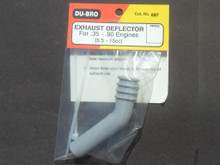 Exhaust Deflector - For engine sizes .35 to .90 ci. (5.5cc to 15cc ) (DU-697)