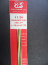 Brass Tube (3 pack) - 2.4mm  x 305mm (3/32 x 12) - (KS-8126)