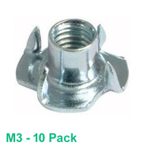 M3  'T' Nut - 10 pack - Plated Steel  - (#NTS-310)