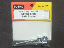 Axle Shafts - 1/8in  x 1-1/4in- Spring Steel  - (DU-246)