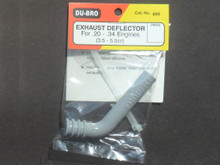 Exhaust Deflector - For engine sizes .20 to .34 ci. (3.2cc to 5.5cc ) (DU-696)