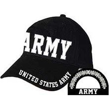 CAP-ARMY,LETTERS (BRASS BUCKLE)