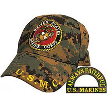 CAP-USMC LOGO,CAMO. (BRASS BUCKLE)