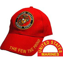 CAP-USMC LOGO,THE FEW (BRASS BUCKLE)