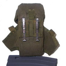 Back view U.S. AR-15/M-16/M-4 magazine pouch
