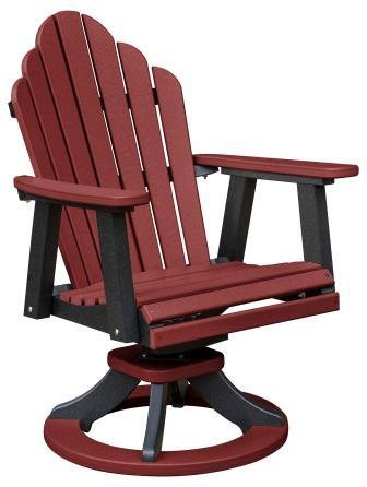 Cozi Back Swivel Rocker Dining Chair Whispering Pines Furniture