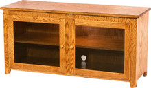 MF505 Flat Side TV Stand with Beveled Glass Doors