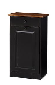 Pine Trash Bin Cabinet w/ Drawer