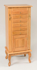 "WS 110 48"" Queen Anne Jewelry Armoire"