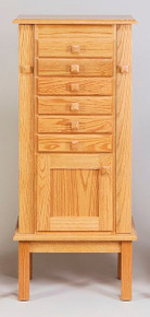 "WS 130 48"" Mission Jewelry Armoire"
