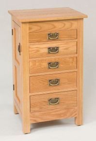 "WS 250 35"" Flush Mission Jewelry Armoire"