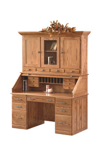 LR-SIR3060WH Sierra Traditional Rolltop Desk with Hutch