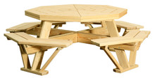 WV 403 Octagon Picnic Table w/ attached benches