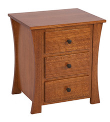 ABC AB505 3 Drawer Nightstand
