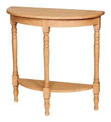 CO 470 Turned Leg Foyer Table w/Shelf