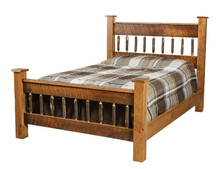 CH 661 Rustic Cherry Square Post Bed, Queen