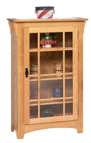 GO-3306 Small Mission Single Door Bookcase
