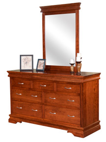 BF Heirloom Sleigh Dresser & Mirror