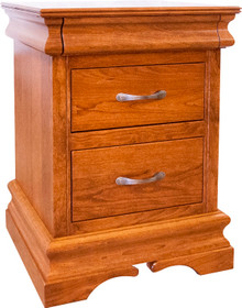 BF Heirloom Sleigh 2-Drawer Nightstand