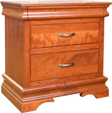 BF Heirloom Sleigh Wide 2-Drawer Nightstand
