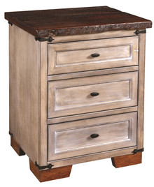CWF6021R Farmhouse Heritage 3-Drawer Nightstand